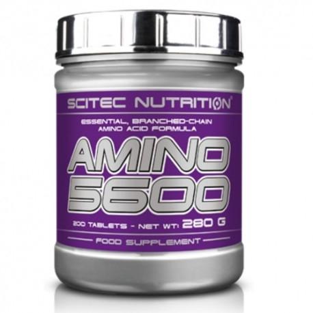 Pool di Aminoacidi Scitec Nutrition, Amino 5600, 200cpr.