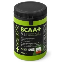 Aminoacidi Ramificati (Bcaa) +Watt, BCAA+ 8:1:1, 100g.