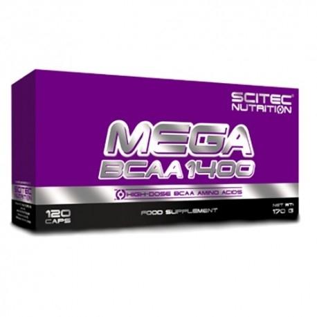 Aminoacidi Ramificati (Bcaa) Scitec Nutrition, Mega Bcaa 1400, 120cps