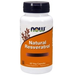 Antiossidanti Now Foods, Natural Resveratrol, 60 cps.