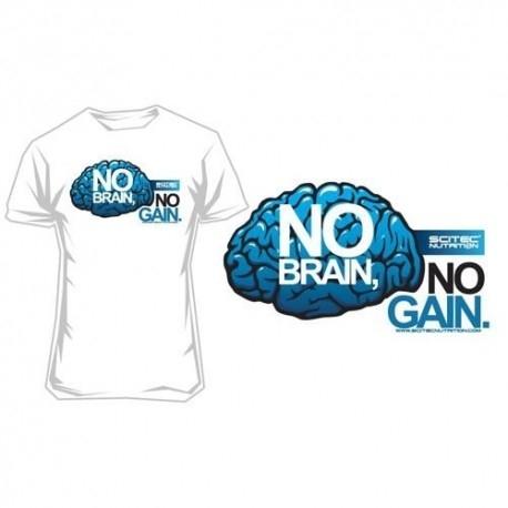 T-Shirt e Pantaloni Scitec Nutrition, T-Shirt, No Brain No Gain