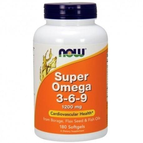Omega 3-6-9 Now Foods, Super Omega 3-6-9, 90perle