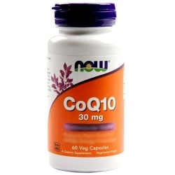 Coenzima Q10 Now Foods, CoQ10 30 mg, 60 cps.