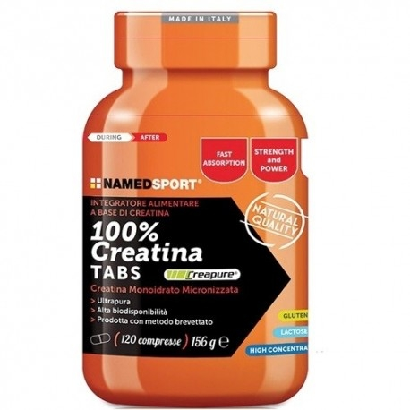 Creatina Named Sport, 100% Creatine Tabs, 120cpr.