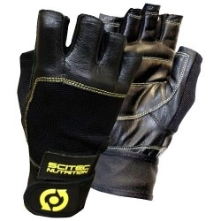 Guanti e Cappelli Scitec Nutrition, Guanti Yellow Leather Style