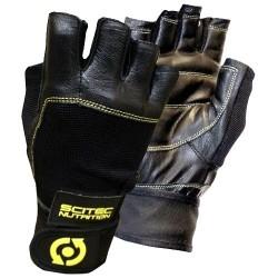 Guanti e Cappelli Scitec Nutrition, Guanti Yellow Leather Style