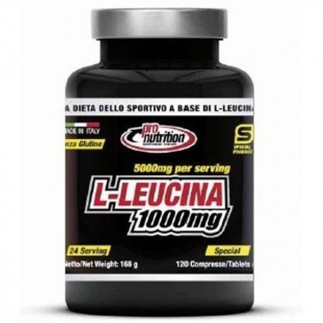 Aminoacidi Ramificati (Bcaa) Pro Nutrition, L-Leucina 1000 mg, 120cpr.