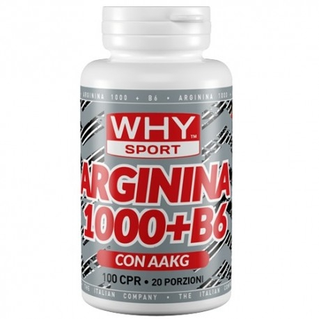 Arginina WHY Sport, Arginina 1000+B6, 100cpr.
