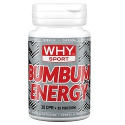 Tonici - Energizzanti WHY Sport, Bum Bum Energy, 30 cpr.