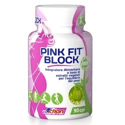 Controllo del Peso Proaction Pink Fit, Block, 90 cpr.