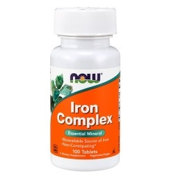 Ferro Now Foods, Iron Complex, 100 cpr.