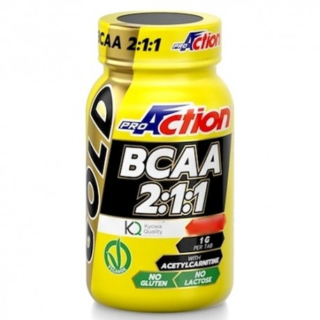 Aminoacidi Ramificati (Bcaa) Proaction, Bcaa Gold, 90cpr.