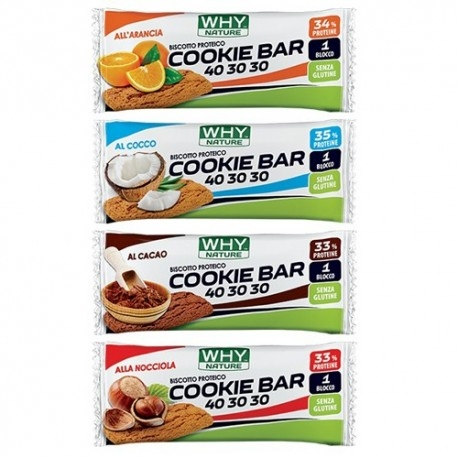 Biscotti e Dolci WHY Nature, Cookie Bar 40 30 30, 31 g.