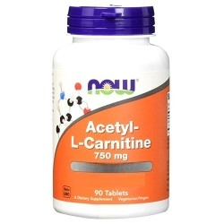 Carnitina Now Foods, Acetyl L-Carnitine, 90 cpr.