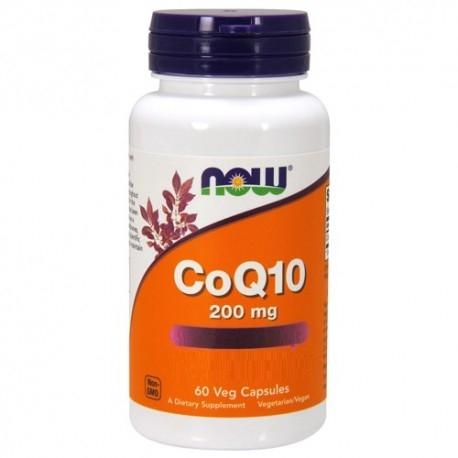 Coenzima Q10 Now Foods, CoQ10 200 mg, 60cps.