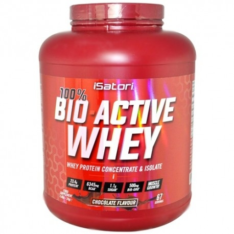 Proteine del Siero del Latte (whey) Isatori, 100% Bio-Active Whey, 2000g.