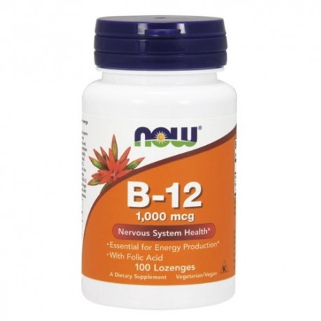 Vitamina B Now Foods, B-12, 100 cpr.