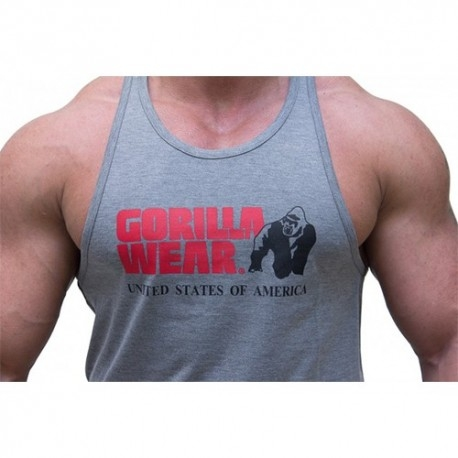T-Shirt e Pantaloni Gorilla Wear, Classic Tank top - Grey Melange