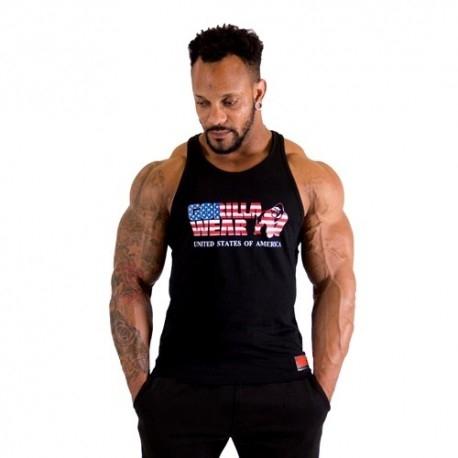 T-Shirt e Pantaloni Gorilla Wear, USA Tank Top, Black