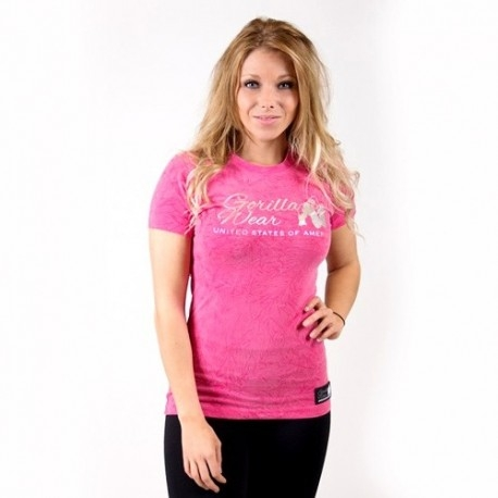 T-Shirt e Pantaloni Gorilla Wear, Camden Pink, T-Shirt