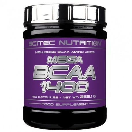 Aminoacidi Ramificati (Bcaa) Scitec Nutrition, Mega Bcaa 1400, 180 cps.