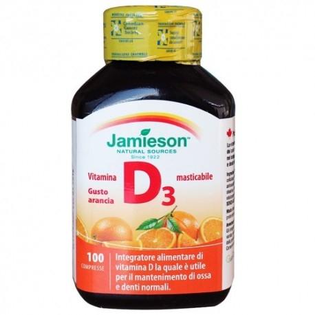 Vitamina D Jamieson, Vitamina D3 masticabile, 100cpr.