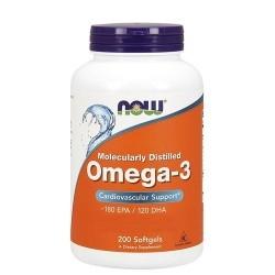 Omega 3 Now Foods, Omega-3, 200Softgels.