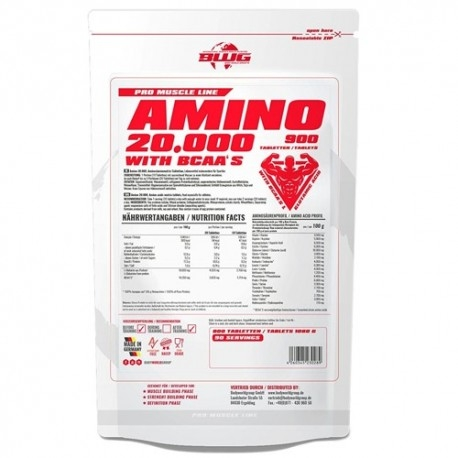 Pool di Aminoacidi BWG, Amino 20000, 900Tabs.