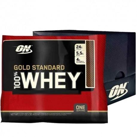 Scadenza Ravvicinata Optimum Nutrition, 100% Whey Gold Standard, Box da 24 pz. da 30 g