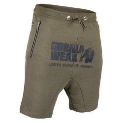 T-Shirt e Pantaloni Gorilla Wear, Alabama Drop Crotch Shorts, Army Green