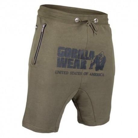 T-Shirt e Pantaloni Gorilla Wear, Alabama Drop Crotch Shorts, Army Green