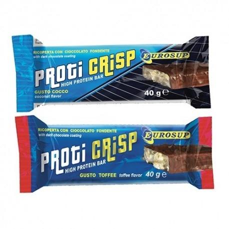 Barrette proteiche Eurosup, Proti Crisp,20 Pz da 40 g