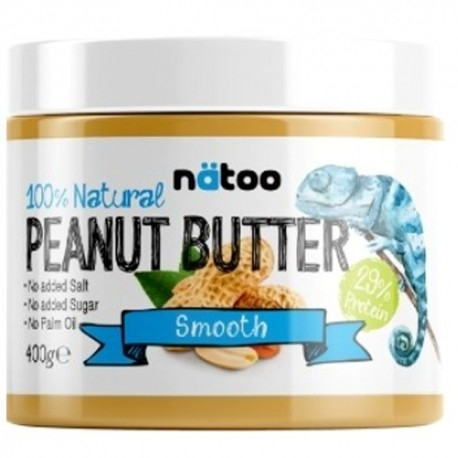 Burro di Arachidi Natoo, 100% Natural Peanut Butter Smooth, 400 g.