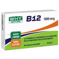 Vitamine e Minerali WHY Nature, B12, 80 cpr. masticabili