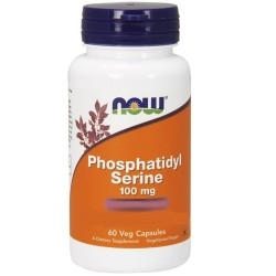 Fosfatidilserina - Fosfatidilcolina Now Foods, Phosphatidyl Serine, 60cps.