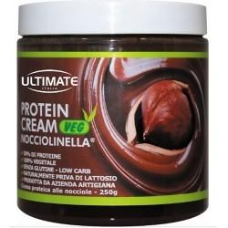 Creme alimentari Ultimate Italia, Protein Cream Veg Nocciolinella, 250 g.