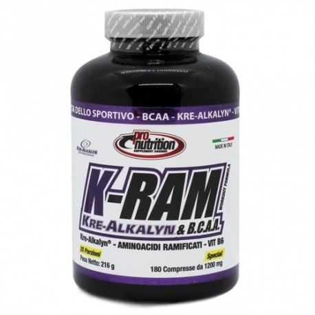 Aminoacidi Ramificati (Bcaa) Pro Nutrition, K-Ram, 180 cpr.