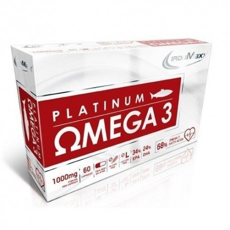 Omega 3 IronMaxx, Platinum Omega 3, 60cps.