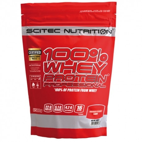 Proteine del Siero del Latte (whey) Scitec Nutrition, 100% Whey Protein Professional, 500 g.