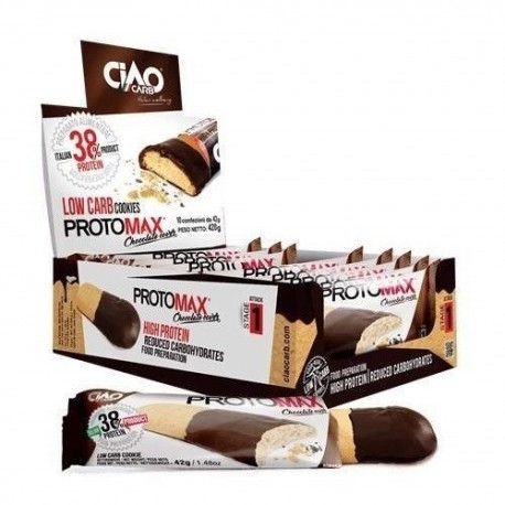 Biscotti e Dolci Ciao Carb, Protomax Choc Savoiardo, 10x42g