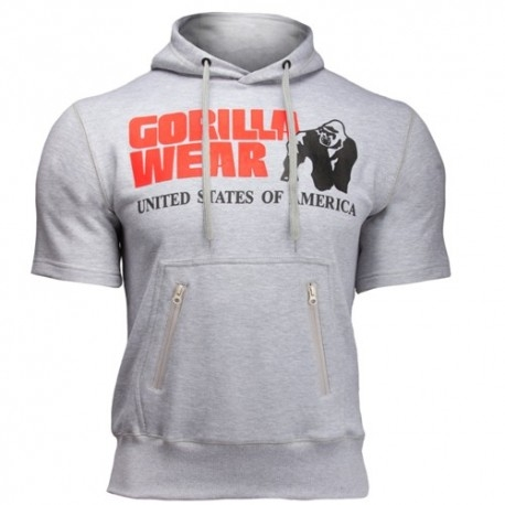T-Shirt e Pantaloni Gorilla Wear, Boston Short Sleeve Hoodie, Grey