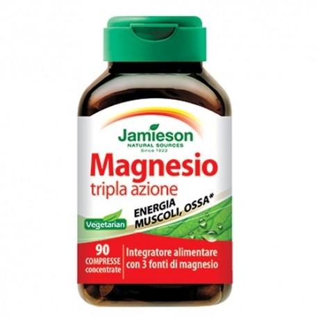 Zinco e Magnesio Jamieson, Magnesio tripla azione, 90cpr.