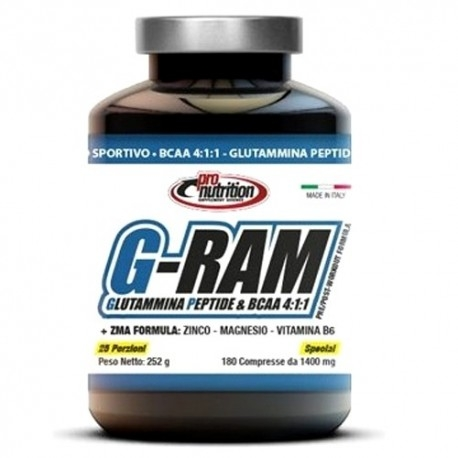 Aminoacidi Ramificati (Bcaa) Pro Nutrition, G-Ram, 180 cpr