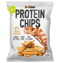 Pasti e Snack Proteici Natoo, Protein Chips, 33 g (Sc.12/2019)
