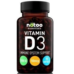 Vitamina D Natoo, Vitamin D3, 90 cps