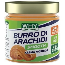 Burro di Arachidi WHY Nature, Burro di arachidi Smooth, 350 g.
