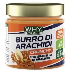 Burro di Arachidi WHY Nature, Burro di arachidi Crunchy, 350 g.