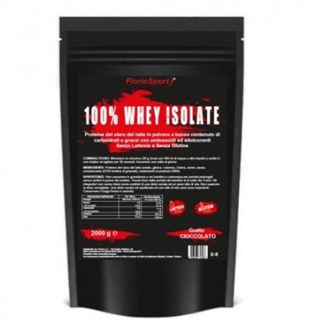 Proteine del Siero del Latte (whey) FlorioSport, 100% Whey Isolate, 2000 g