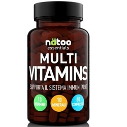 Multivitaminici - Multiminerali Natoo, Multi Vitamins, 60 cpr