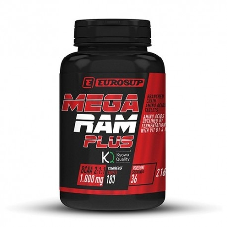 Aminoacidi Ramificati (Bcaa) Eurosup, Mega Ram Plus, 180Cpr.